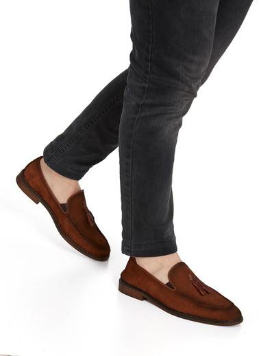 Muggo Hakiki Deri Ayakkabı Taba